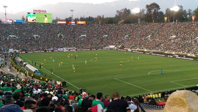 Seating view for Rose Bowl Section 28-H Row 68 Seat 101