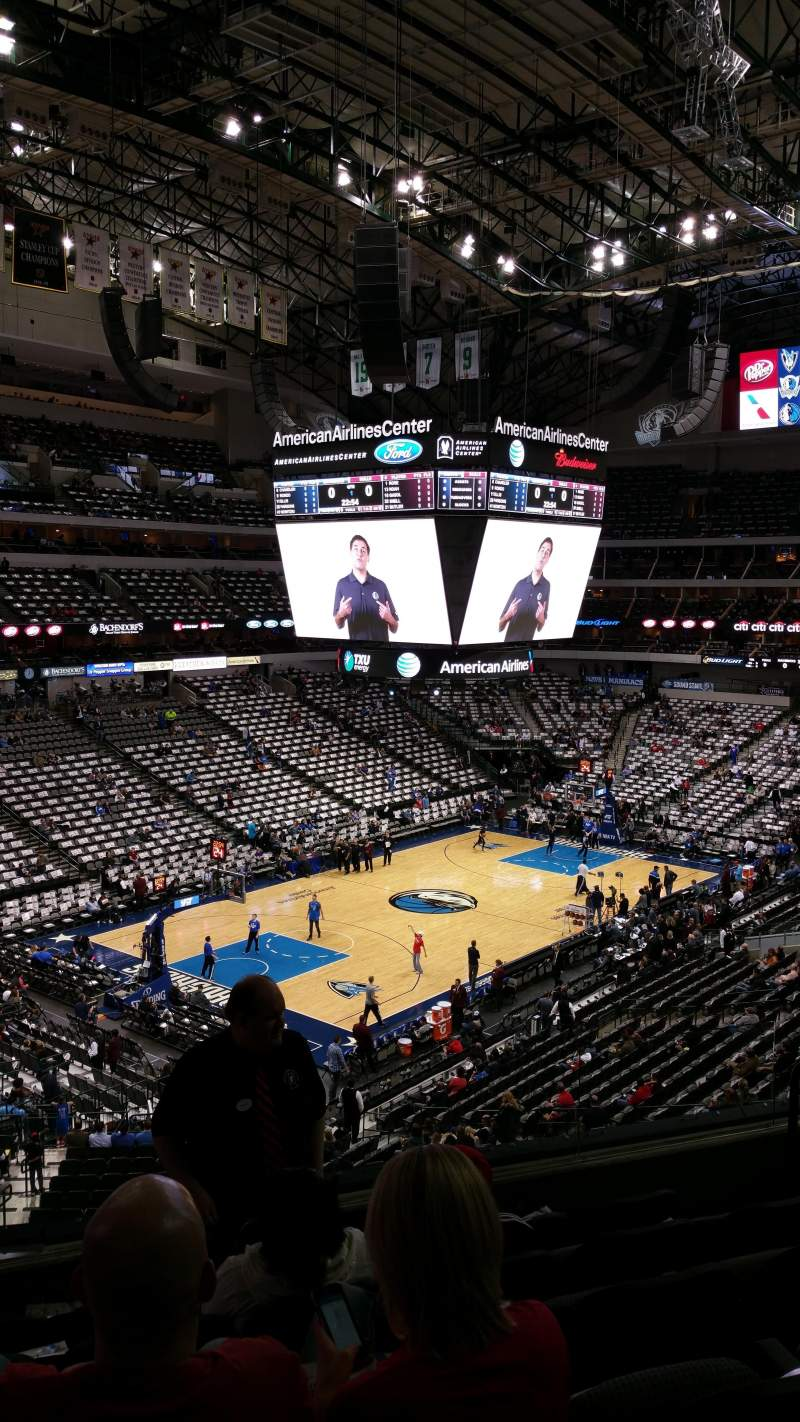 American Airlines Center, section: 222, row: F, seat: 6-7