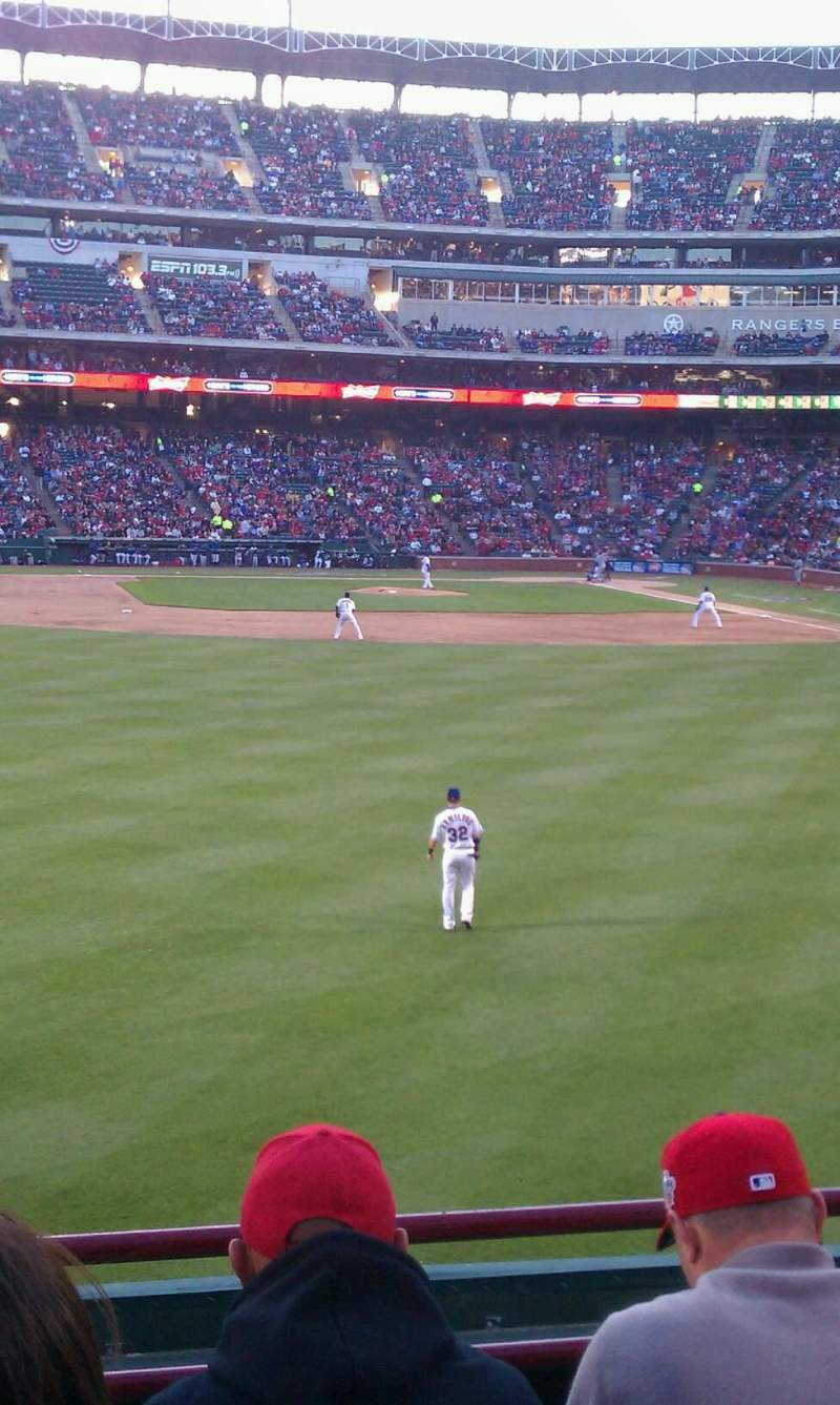 Seating view for Globe Life Park in Arlington Section 5 Row 5 Seat 3