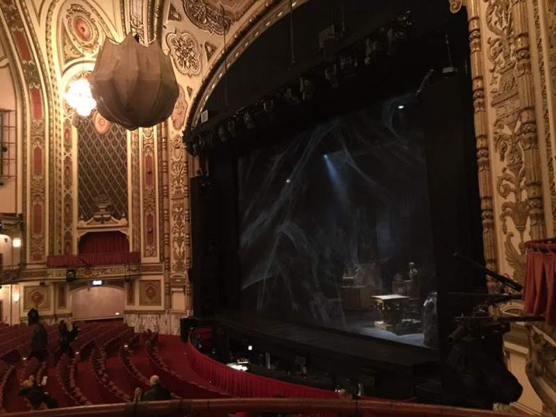 Seating view for Cadillac Palace Theater Section Dress Circle R Row BB Seat 8