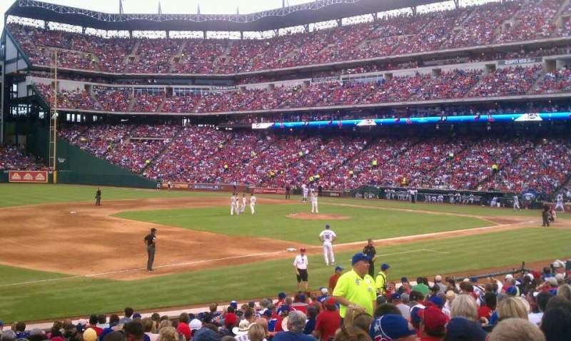Seating view for Globe Life Park in Arlington Section 16 Row 16 Seat 10