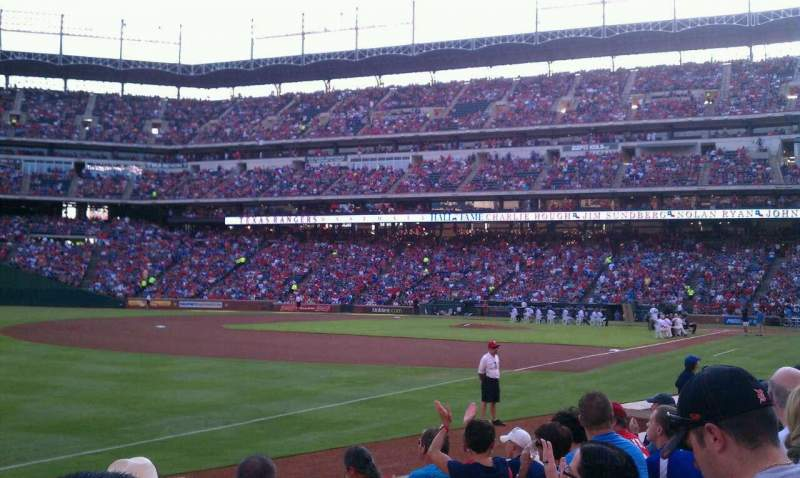 Seating view for Globe Life Park in Arlington Section 14 Row 6 Seat 13