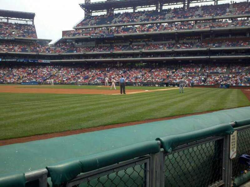 Seating view for Citizens Bank Park Section 136 Row 2 Seat 3