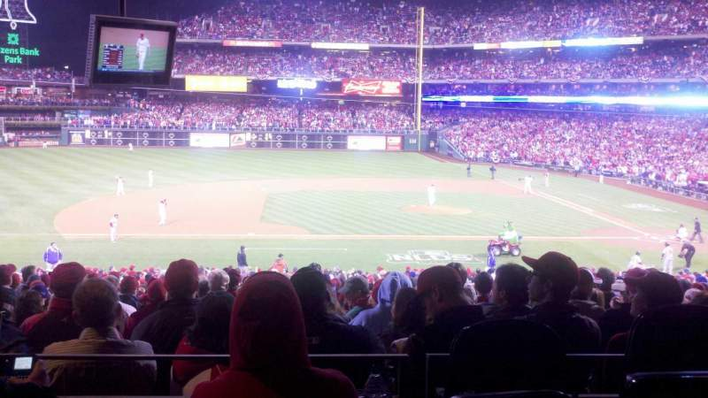 Seating view for Citizens Bank Park Section 131 Row SRO