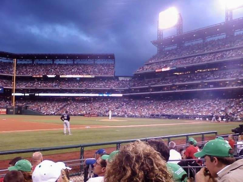 Seating view for Citizens Bank Park Section 131 Row 6
