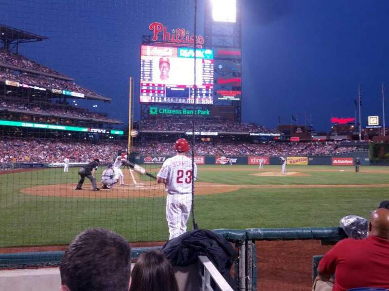 Seating view for Citizens Bank Park Section G Row 2 Seat 8