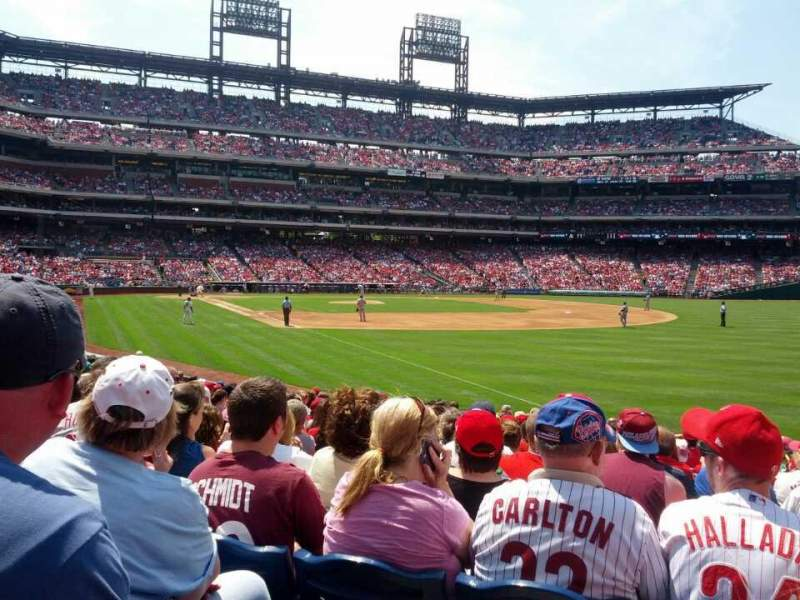 Seating view for Citizens Bank Park Section 109 Row 20 Seat 8