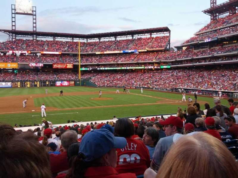 Seating view for Citizens Bank Park Section 131 Row 23 Seat 14