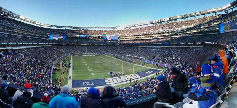 Seating view for MetLife Stadium Section 229 Row 4 Seat 1