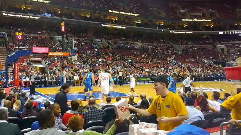 Seating view for Wells Fargo Center Section 111 Row 4 Seat 7