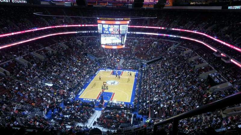 Seating view for Wells Fargo Center Section 207A Row 15 Seat 22
