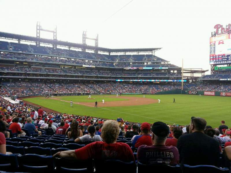 Seating view for Citizens Bank Park Section 110 Row 33 Seat 9