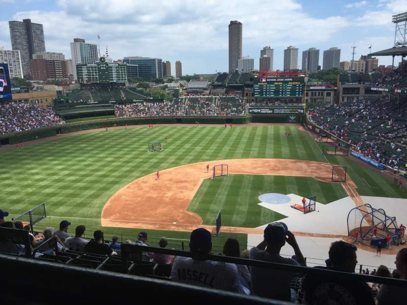 Seating view for Wrigley Field Section 412L Row 1 Seat 16