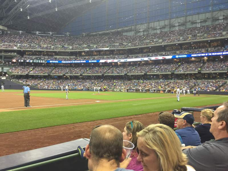 Seating view for Miller Park Section 124 Row 3 Seat 11