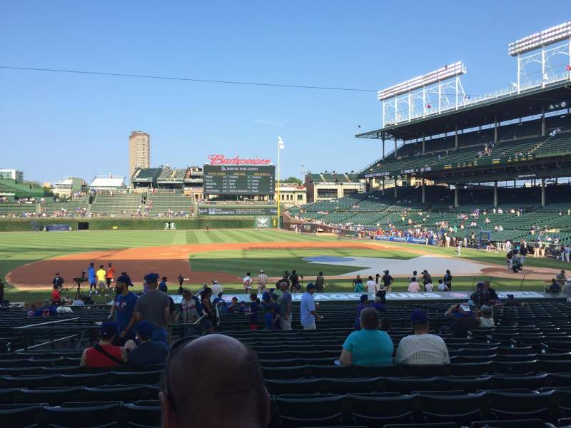 Seating view for Wrigley Field Section 111 Row 14 Seat 8