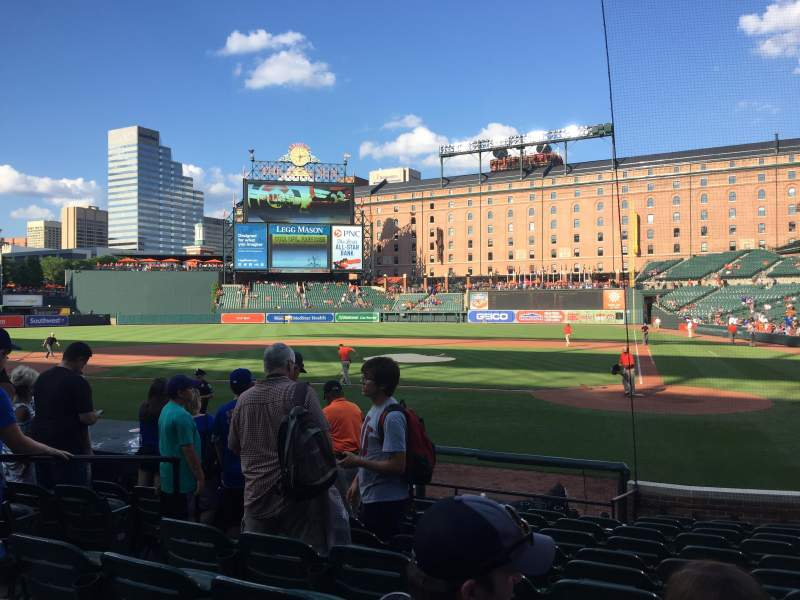 Seating view for Oriole Park at Camden Yards Section 46 Row 10 Seat 1