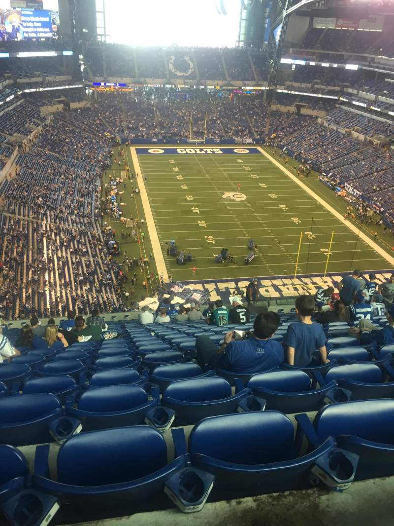 Seating view for Lucas Oil Stadium Section 629 Row 20 Seat 15