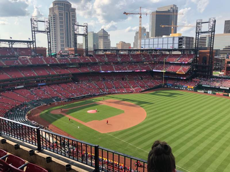 Seating view for Busch Stadium Section 435 Row 3 Seat 11