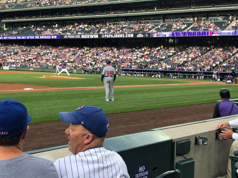 Seating view for Coors Field Section 141 Row 3 Seat 5
