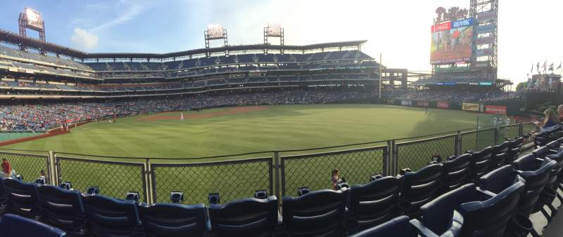 Seating view for Citizens Bank Park Section 104 Row 3 Seat 8