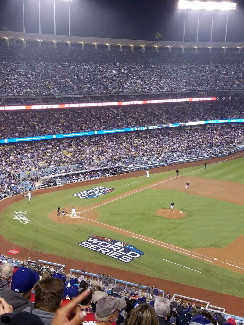 Seating view for Dodger Stadium Section 24RS Row S Seat 21