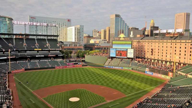 Seating view for Oriole Park at Camden Yards Section 332 Row 21 Seat 14