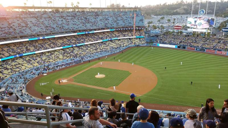 Seating view for Dodger Stadium Section 22RS Row GG Seat 16