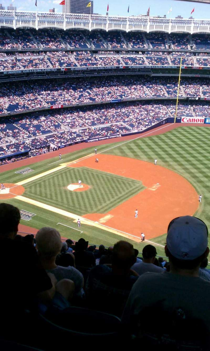 Seating view for Yankee Stadium Section 413 Row 14 Seat 9