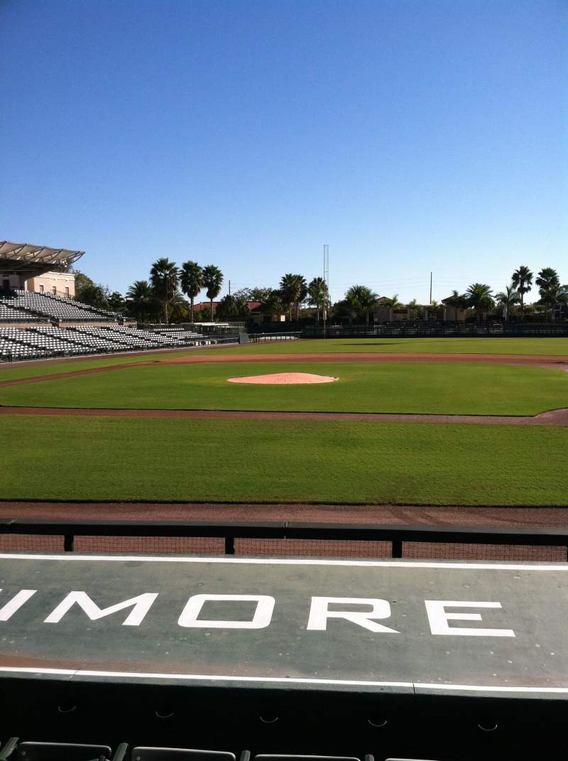 Seating view for Ed Smith Stadium Section 108 Row 8 Seat 6