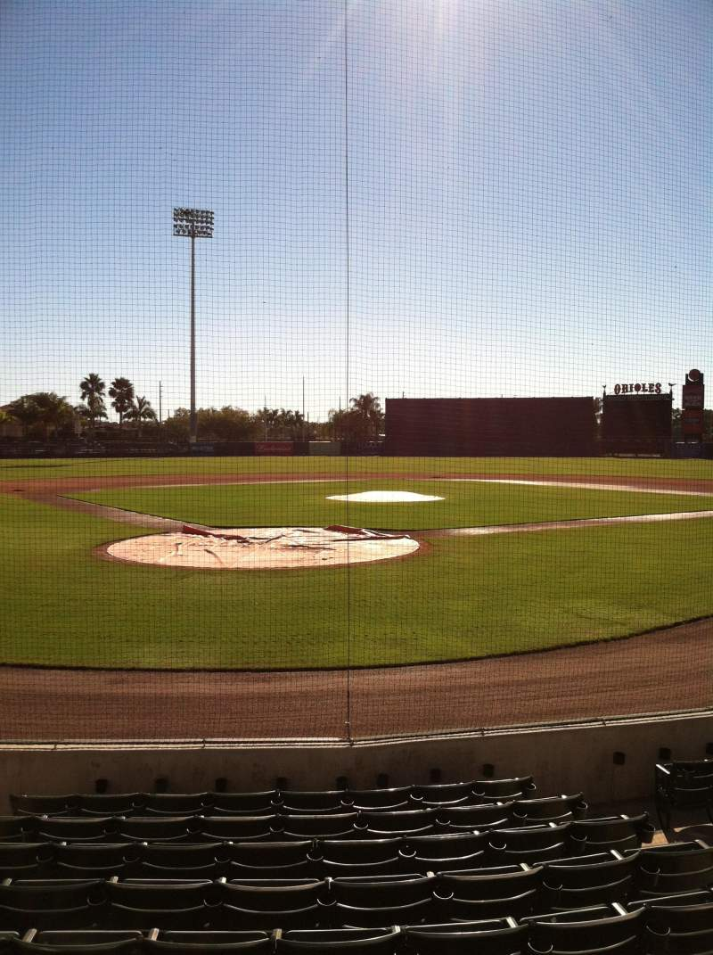 Seating view for Ed Smith Stadium Section 112 Row 9 Seat 5