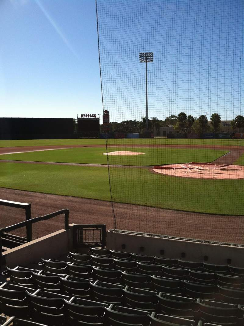 Seating view for Ed Smith Stadium Section 115 Row 9 Seat 6
