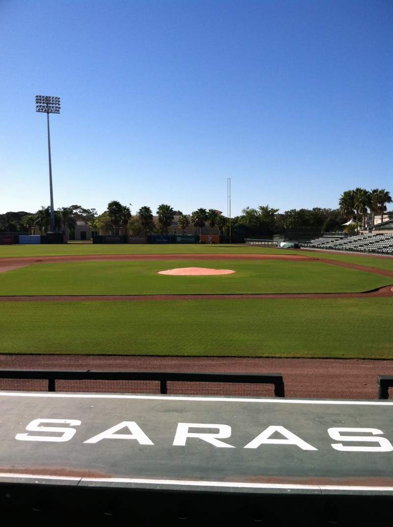 Seating view for Ed Smith Stadium Section 117 Row 9 Seat 5