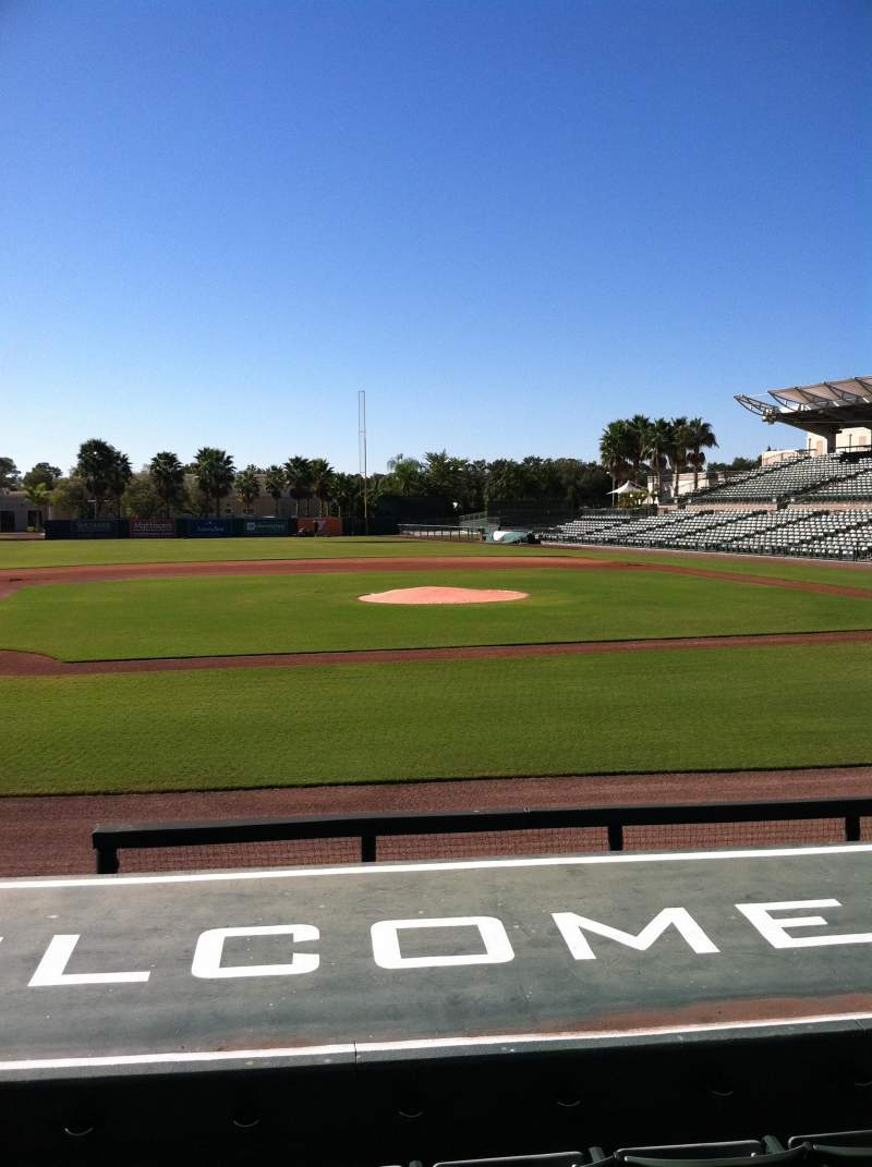 Seating view for Ed Smith Stadium Section 118 Row 9 Seat 5