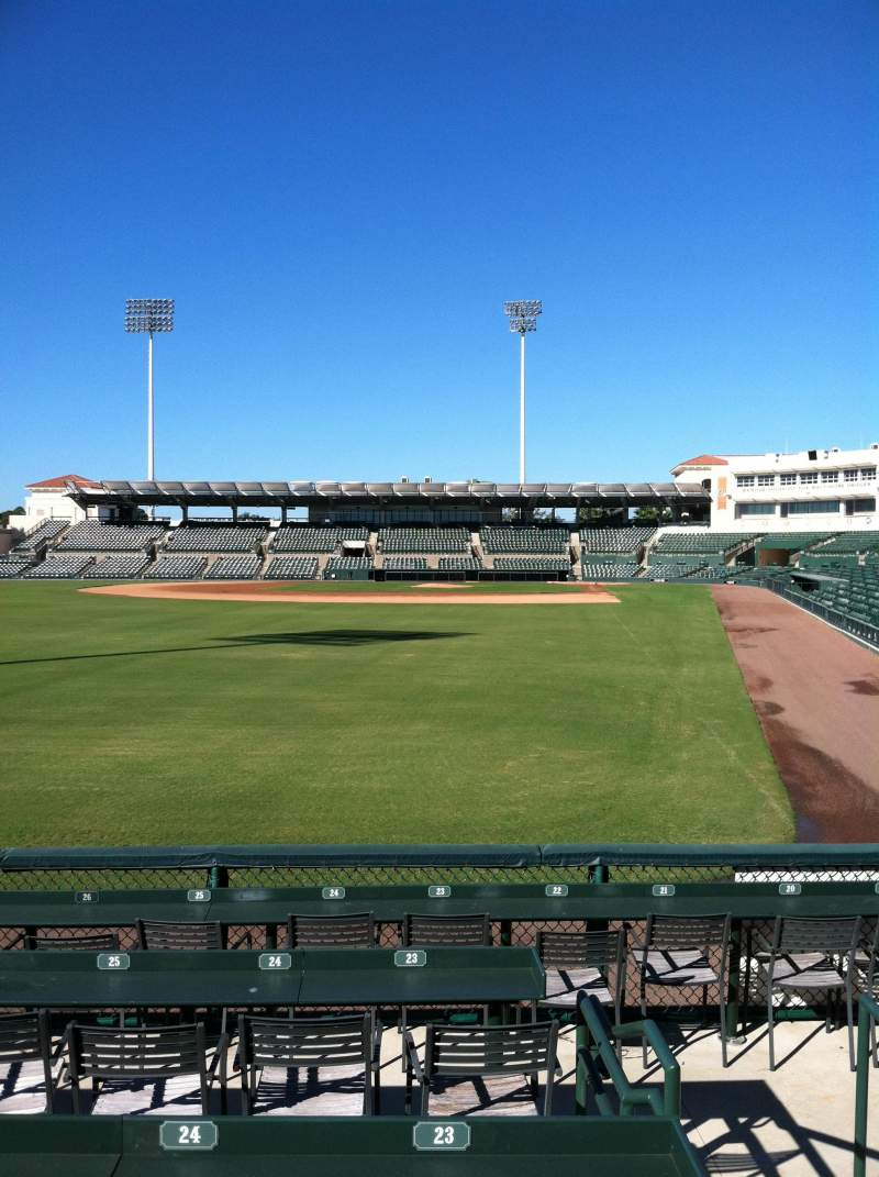 Seating view for Ed Smith Stadium Section 127 Row 3 Seat 23