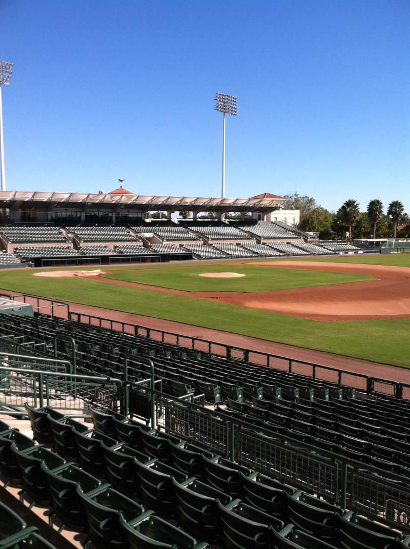 Seating view for Ed Smith Stadium Section 203 Row 7 Seat 12