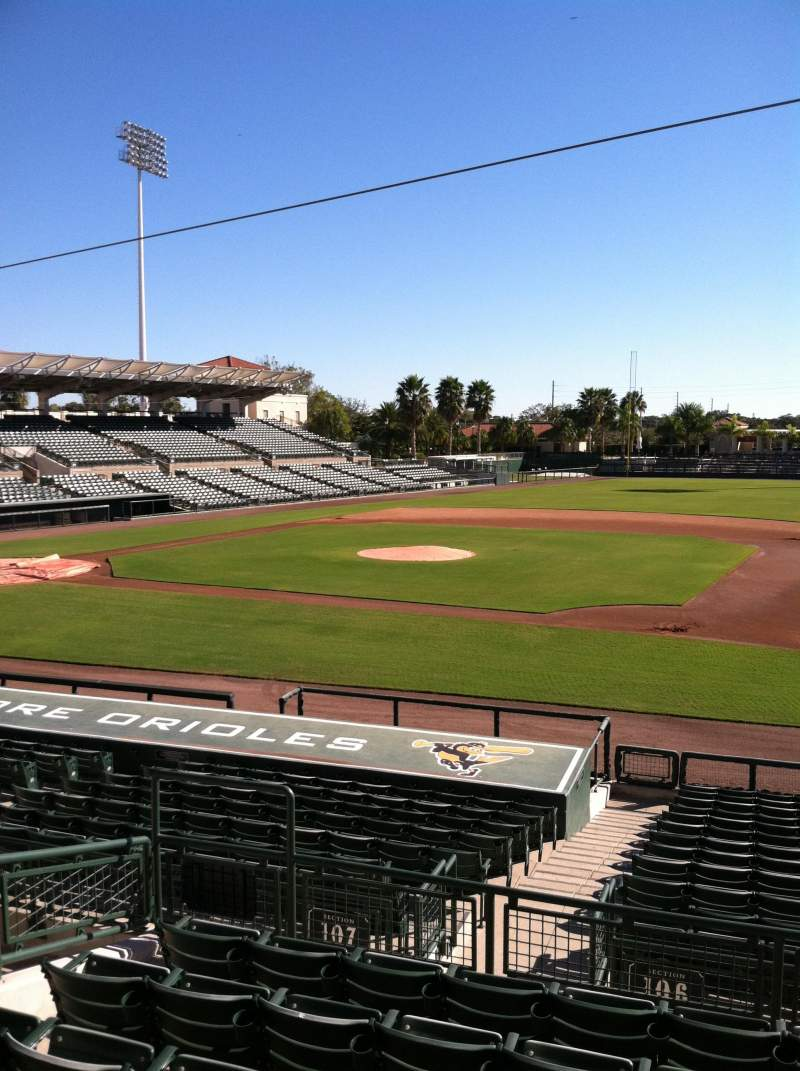 Seating view for Ed Smith Stadium Section 207 Row 7 Seat 12