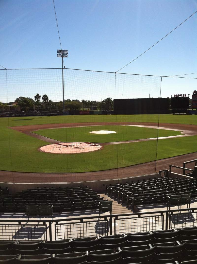 Seating view for Ed Smith Stadium Section 212 Row 7 Seat 12