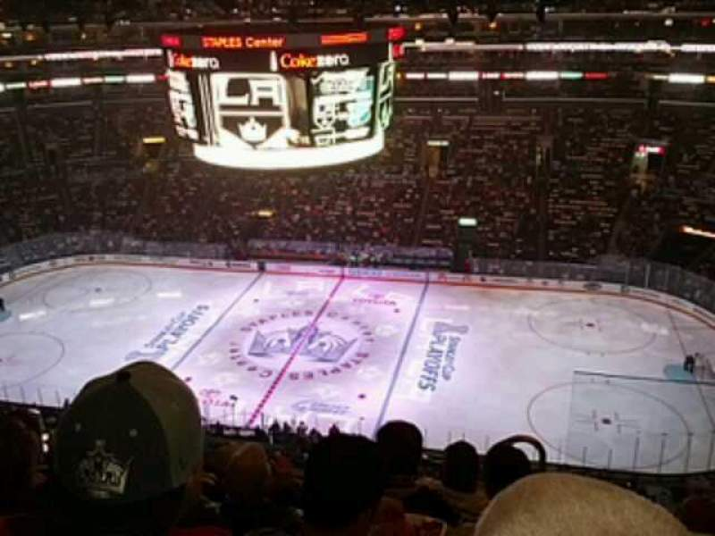 Seating view for Staples Center Section 317 Row 7 Seat 2