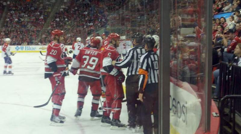 Seating view for PNC Arena Section 120 Row B Seat 1