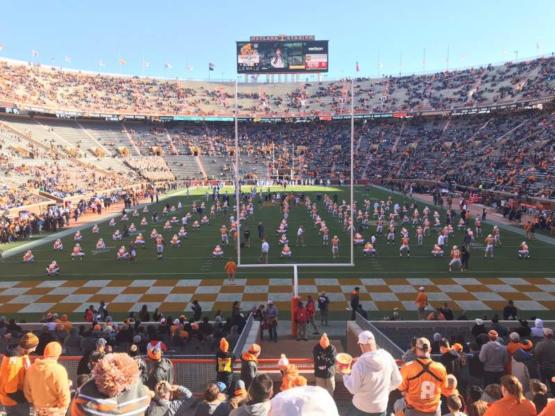 Seating view for Neyland Stadium  Section Y9 Row 15 Seat 1