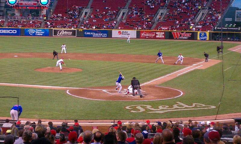 Seating view for Great American Ball Park Section 121 Row FF Seat 14
