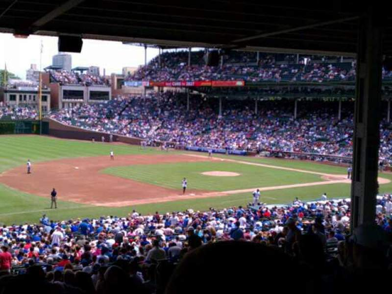 Seating view for Wrigley Field Section 208 Row 17 Seat 9