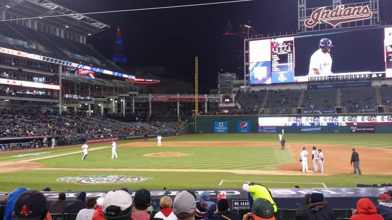 Seating view for Progressive Field Section 144 Row S Seat 2