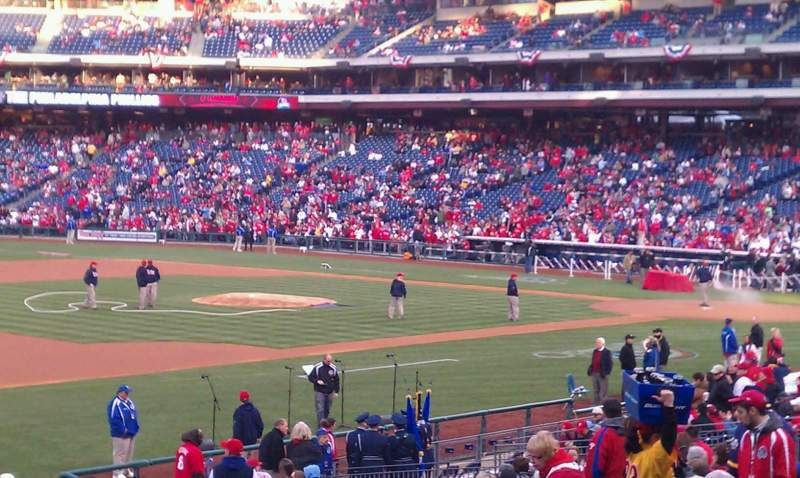 Seating view for Citizens Bank Park Section 134 Row 30 Seat 18