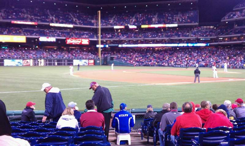 Seating view for Citizens Bank Park Section 135 Row 11 Seat 1