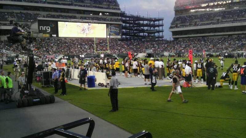 Seating view for Lincoln Financial Field Section 123 Row 1 Seat 7
