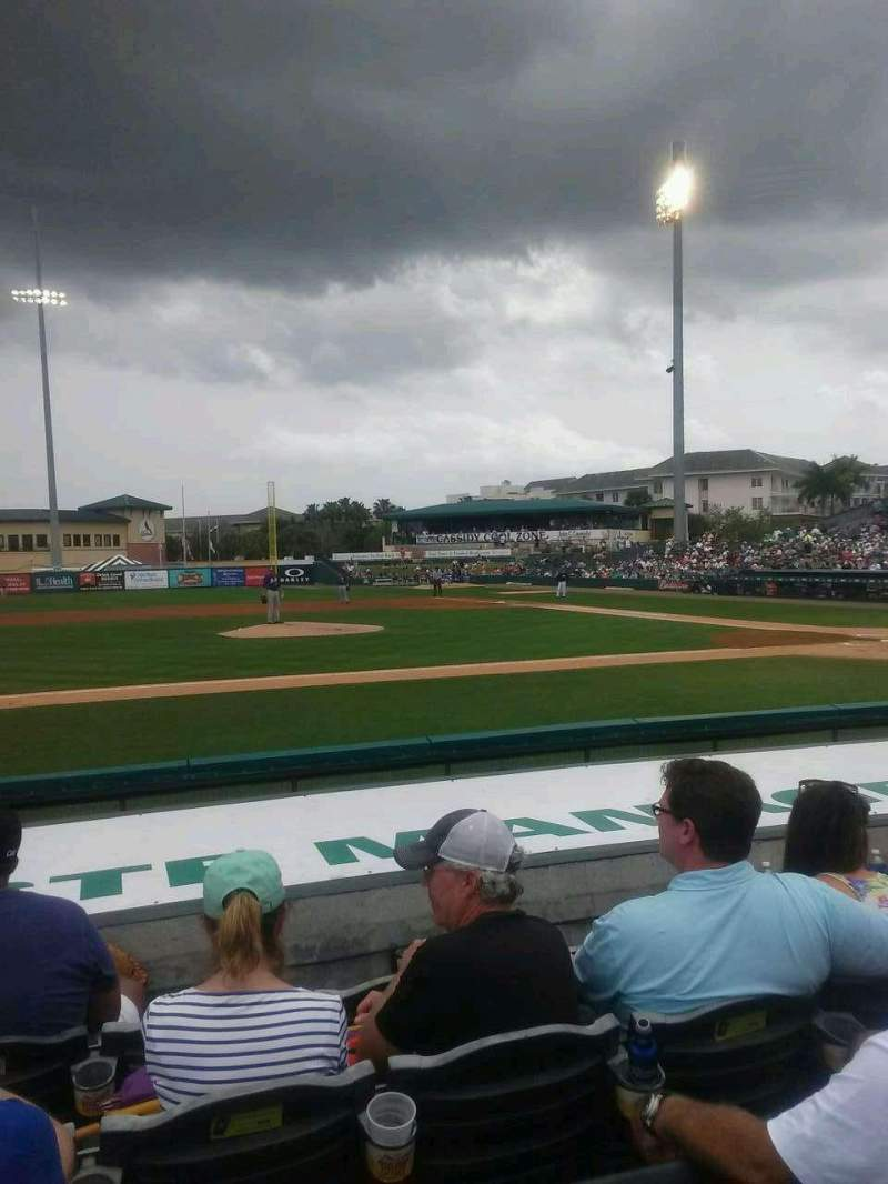 Seating view for Roger Dean Chevrolet Stadium Section 118 Row 8 Seat 4