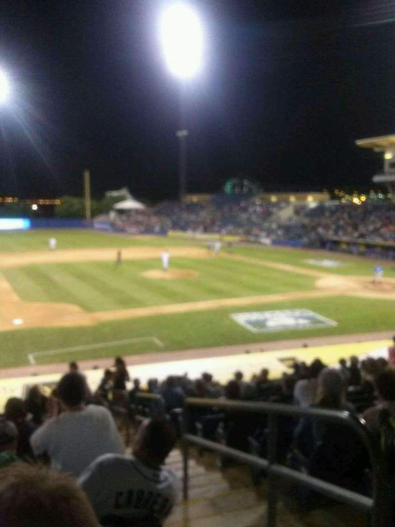 Seating view for Richmond County Bank Ballpark Section 5 Row P Seat 3