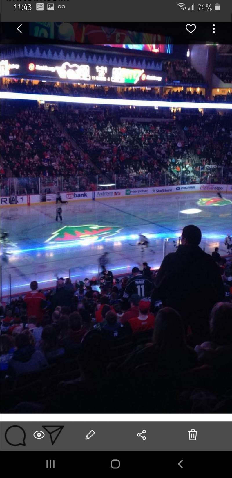 Seating view for Xcel Energy Center Section 118 Row Sro