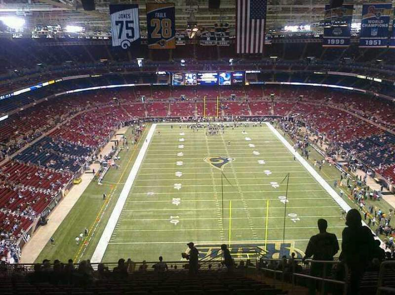 Seating view for The Dome at America's Center Section 12 Row 16 Seat 9